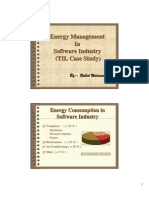 Energy Conservation in IT