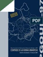 Compendio de las Normas Urbanísticas del Plan General de Ordenación Urbana de Madrid de 1997