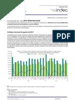 Encuesta de turismo internacional [Agosto de 2011]
