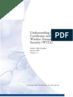 Understanding Digital Certificates & Wireless Transport Layer WTLS