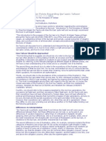 Summarizing Major Points Regarding Qur'aanic Tafseer