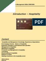 Hospitality Management Intro