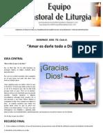 Equipo Pastoral de Liturgia. Subsidio Domingo XXIX. to. Ciclo a. Dale a Dios Lo Que Es de Dios