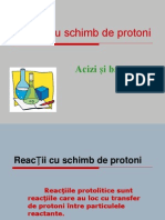 Reactii Cu Schimb de Protoni - Acizi & Baze