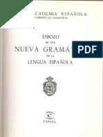RAE·Esbozo de una nueva Gramática