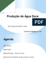 Produção de Água Doce