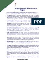 Job Positions Description