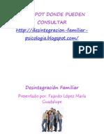 DESINTEGRACION FAMILAR TEMA