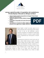 Abraaj Capital procède à l'acquisition de la plateforme Private Equity d'Amundi en Afrique du Nord