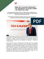 La Technologie de la nouvelle imprimante Sharp offre aux entreprises un moyen simple de réduire les coûts