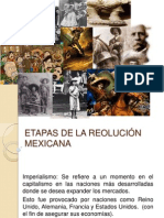 BLOQUE 4..Etapas de la revolucioón mexicana