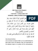 E11Apr01 - Ar-Rahman