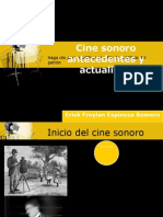 Cine Sonoro Antecedentes y Actual Id Ad