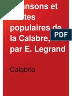 E. Legrand, Chansons et contes populaires de la Calabria