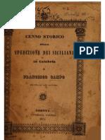 F. Campo, Cenno storico sulla spedizione dei siciliani in Calabria, 1851