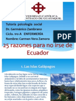 De Ecuador no me voy 25 razones