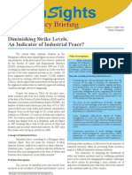 12_Diminishing Strike Levels, An Indicator of Industrial Peace