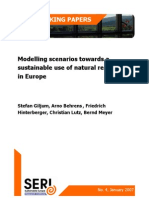 Sustainable Natural Resource Use in Europe SERIWorkingPaper4
