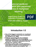 6221433 Power Point Version Slides Vocational Students Motivation and Perceived Success in Workplace Learning