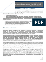 Performance Improvement Plan 2011-2012