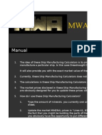 MWA - Manufacturing Sheet - Capital Ships - Dreadnoughts