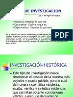 Tercera Clases Metodologia Tipos de Investigacion
