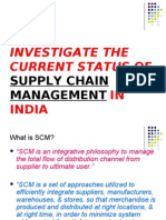 INVESTIGATE THE CURRENT STATUS OF SUPPLY CHAIN MANAGEMENT.yashwant biradar