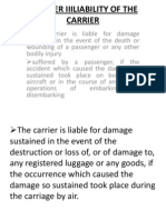 Chapter III Liability of the Carrier