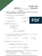 02-IIT Screening-2006 (Maths)