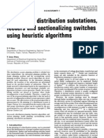 Planning of distribution substations, feeders and sectionalizing switches using heuristic algorit