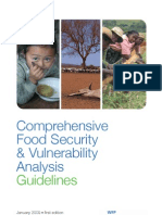Analysis of vulnerability to food insecutity