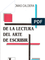 Caldera Rafael Tomas - De La Lectura Al Arte de Escribir