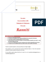 Ranniti Round 1 Quiz Paper - Umang