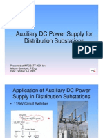 Auxiliary DC Power Supply for Distribution Substations