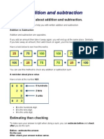 Written Addition and Subtraction