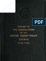 History of the Congregations of the United Presbyterian Church 1733-1900 Volume 1