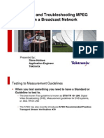 MPEG Troubleshooting in a Broadcast Network