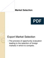 Ch 4 Export Market Selection
