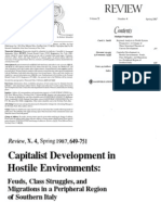 G. Arrighi e F. Piselli,  Capitalist development in hostile environments. Feuds, class struggles, and  migrations in a peripheral region of southern Italy
