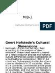 MIB 3 Cultural Dimensions