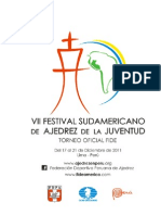 Bases Vii Festival Sudamericano de Ajedrez de La Juventud