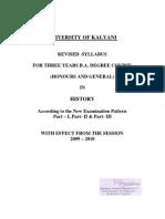 History _Hons. & Genl._ Revised Syllabus w.e.f. 2009-2010