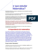 Por que estudar Matemática