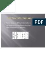 3d Transformations 2