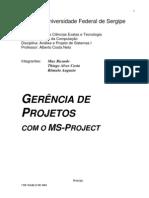 Gest+úo De Projetos - Pmi - Ger+¬ncia De Projetos Com Ms-Project - Universidade Federal De Sergipe