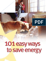 101 Easy Ways to Save Energy