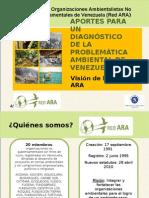 Aportes al diagnóstico ambiental de Venezuela, visión de la Red ARA