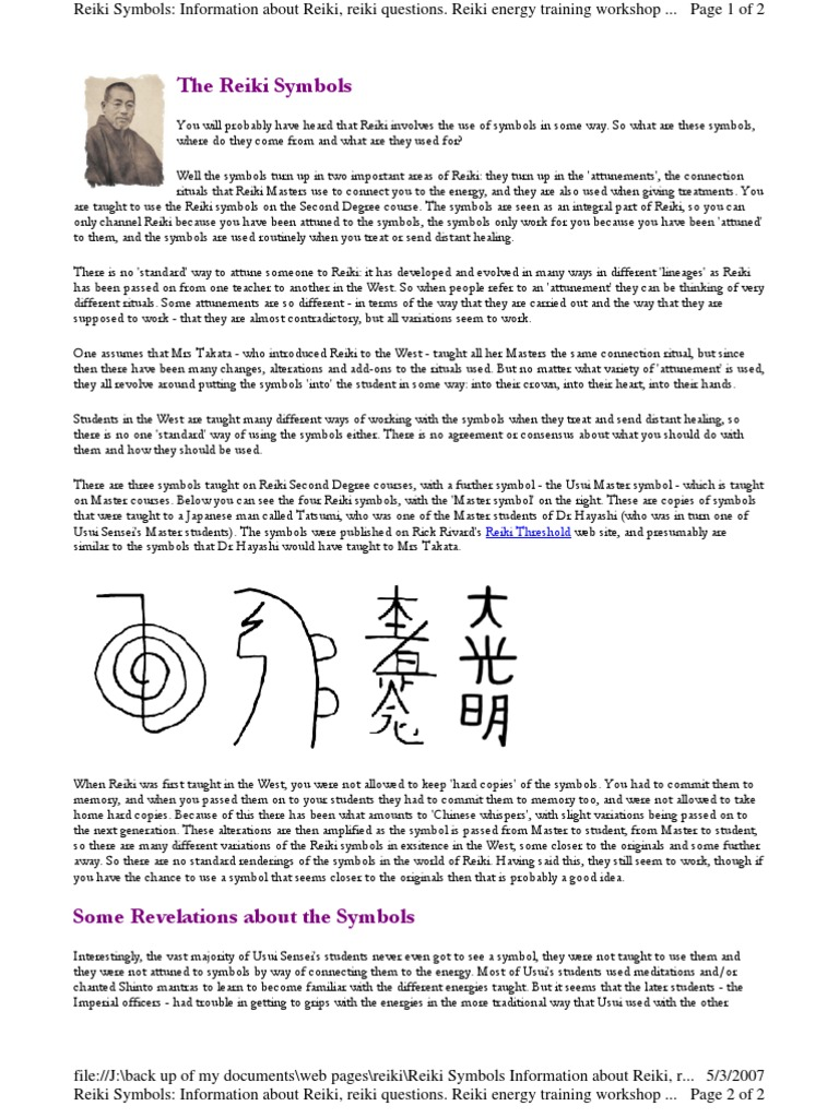 Reiki Symbols Informations Reiki Energy Medicine