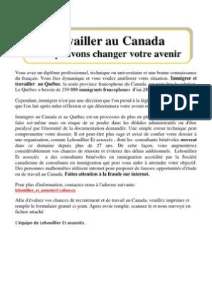 Test D Evaluation Pour Immigrer Et Travailler Au Canada