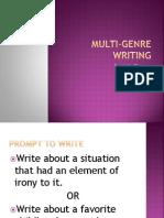 Multi Genre Writing